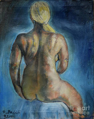 Painting - Strong Blond's Back by Raija Merila