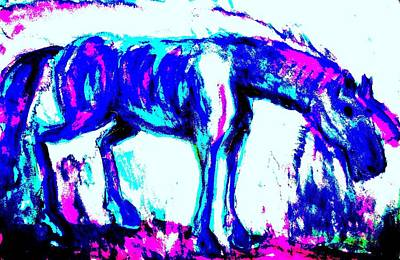 Icelandic Horse Painting - I'm Strong Enough To Carry Myself  by Hilde Widerberg
