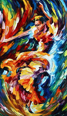 Latin American Painting - Strong Flamenco by Leonid Afremov