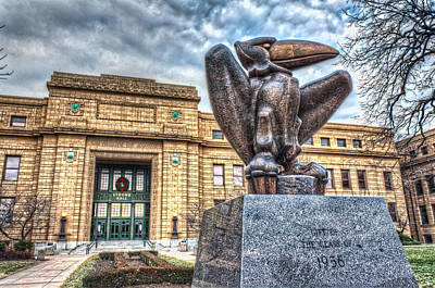 Lawrence University Photograph - Strong Hall by Corey Cassaw