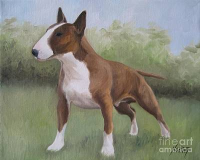 English Bull Terrier Painting - Strong by Jindra Noewi