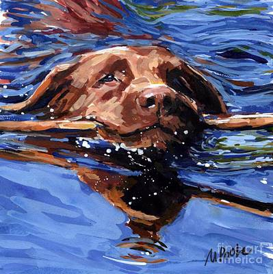 Swimmers Painting - Strong Swimmer by Molly Poole
