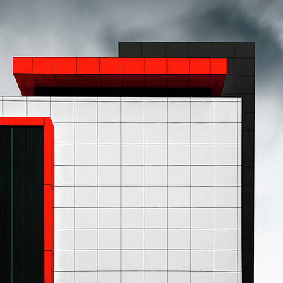 Sky Line Photograph - Structure Wal by Gilbert Claes