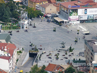 Photograph - Strumica Town Square - Macedonia by Phil Banks
