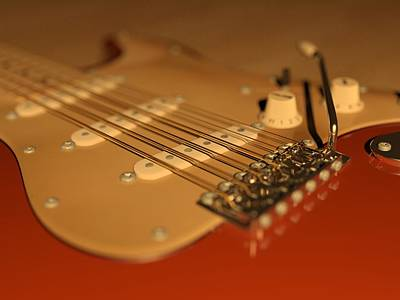 Sound Digital Art - Strummed by James Barnes