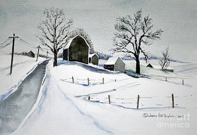 Strutt Road Wayland Ny Art Print by Joan Hartenstein