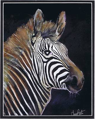 Painting - Strutting His Stipes by Jerry Bates