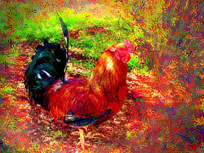 Strutting In Living Color Art Print by Joyce Dickens