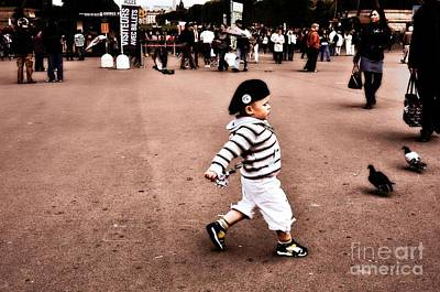 Pigeon Digital Art - Strutting Through Paris by Mary Machare