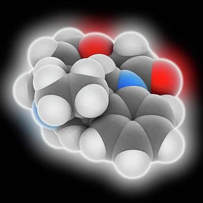 Crystalline Photograph - Strychnine Molecule by Laguna Design