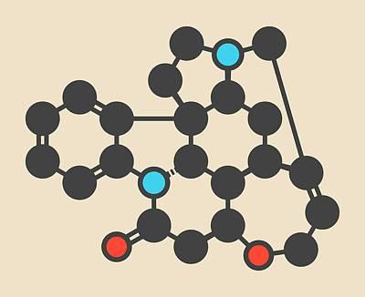 Strychnine Poisonous Alkaloid Molecule Art Print by Molekuul