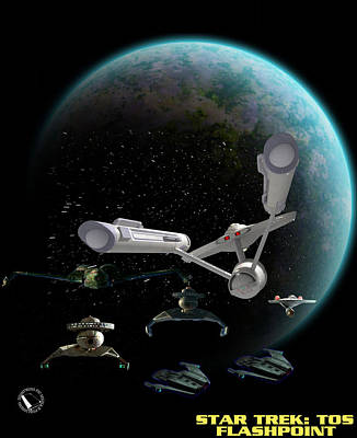 Klingon Wall Art - Digital Art - S.t.tos - Flashpoint by Jason Hauck