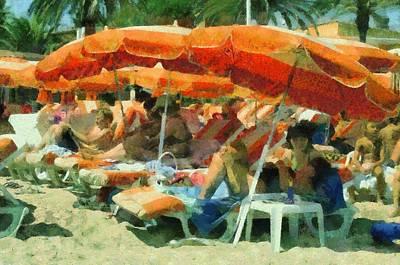 St.tropez Painting - St.tropez Beach by Gaby Martin