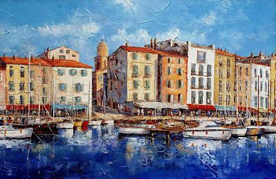 St. Tropez - France Original by Miroslav Stojkovic- Miro