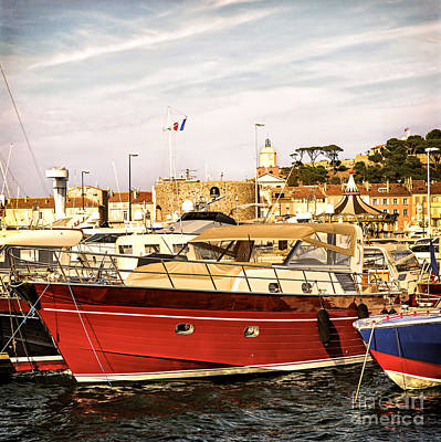 Saint-tropez Harbor Art Print by Elena Elisseeva