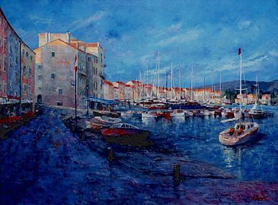 St.tropez  - Port -   France Art Print by Miroslav Stojkovic - Miro