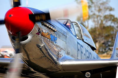 Photograph - Stu Eberhardt And His P51d Merlin's Magic by John King