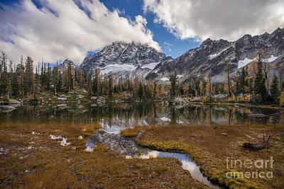 Photograph - Stuart Range Autumns Palette by Mike Reid