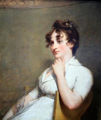 Stuart's Eleanor Parke Custis Lewis Or Mrs. Lawrence Lewis Art Print by Cora Wandel