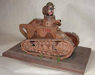 Stubby's Tank Art Print by Stuart Swartz