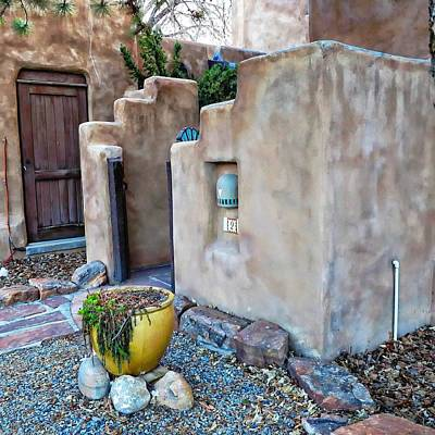 Digital Art - Stucco Condo In Santa Fe by Carrie OBrien Sibley