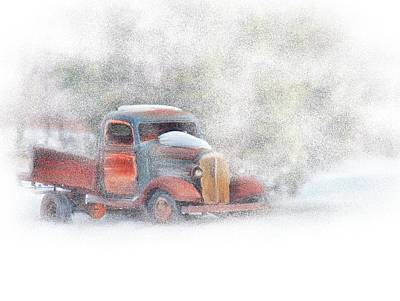Stuck In Snow Art Print by Mary Timman