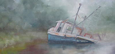 Aground Painting - Stuck In The Mud Since 2005 by Susan Richardson