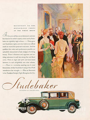 Drawing - Studebaker 1929 1920s Usa Cc Cars by The Advertising Archives