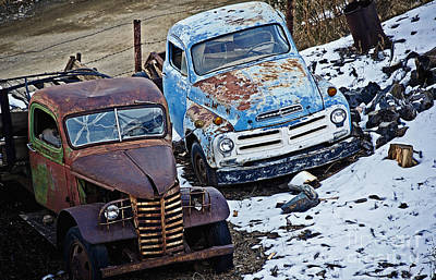 Photograph - Studebaker And Ford At The Fence by Lee Craig