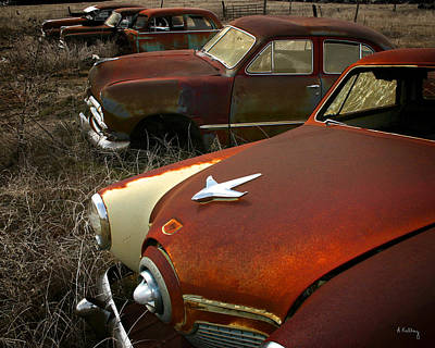 Photograph - Studebaker Cars by Andrea Kelley