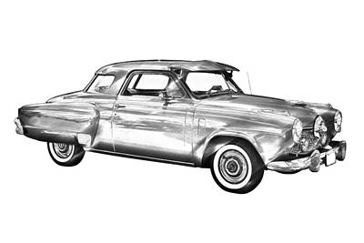 Photograph - Studebaker Champian Antique Car Illustration by Keith Webber Jr