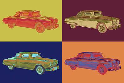 Photograph - Studebaker Champian Antique Car Pop Art by Keith Webber Jr
