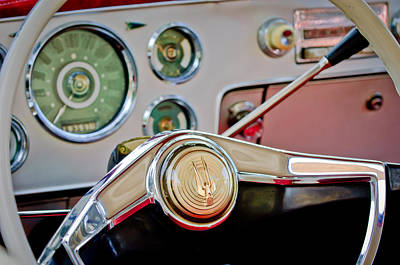 Photograph - Studebaker Steering Wheel by Jill Reger