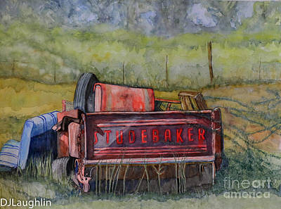 Painting - Studebaker Truck Tailgate by DJ Laughlin