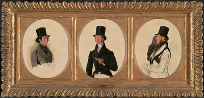 Meopham Painting - Studies For The Portraits Of Lord Eglinton, Lord Douglas by Litz Collection