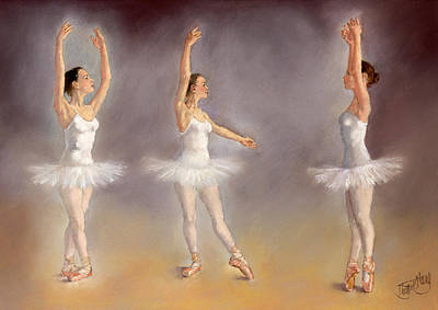 Studies Of A Ballet Dancer Art Print by Margaret Merry