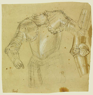Paolo Caliari Veronese Drawing - Studies Of Armor Paolo Veronese Paolo Caliari Or Workshop by Litz Collection