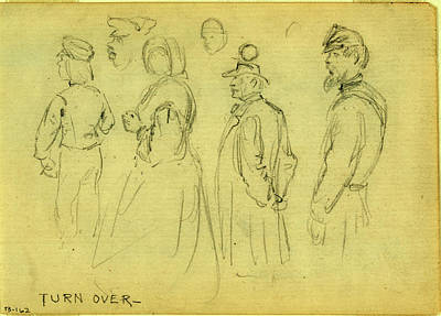 African-american Drawing - Studies Of Child, Woman, Gentleman, African American Man & by Quint Lox