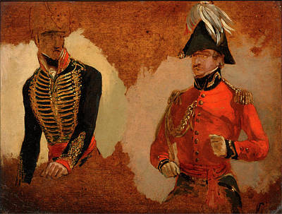 Commander -in-chief Painting - Studies Of Royal Horse Artillery Uniform by Litz Collection