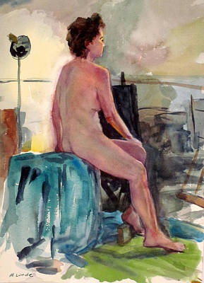 Painting - Studio Nude by Mark Lunde