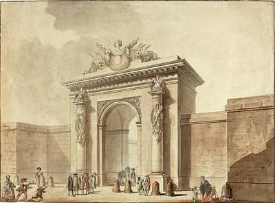 Portal Drawing - Studio Of Claude Nicolas Ledoux, Portal Of The Hôtel Duzès by Litz Collection