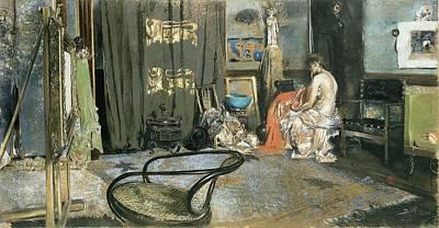 Studio Of Robert F. Blum, C.1883-84 Pastel On Paper Art Print by Robert Frederick Blum