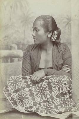 Studio Drawing - Studio Portrait Of A Seated Woman Java, Indonesianese by Artokoloro