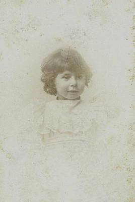 Studio Drawing - Studio Portrait Of A Young Girl by Artokoloro