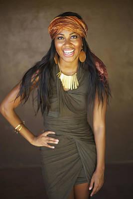Studio Art Jewelry Photograph - Studio Portrait Of African American Model by Kicka Witte