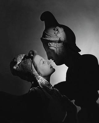 Film Photograph - Studio Portrait Of Constance Moore And A Greek by Horst P. Horst