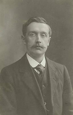 Studio Drawing - Studio Portrait Of Man With Mustache, Fotografie Strauss by Artokoloro