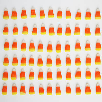 Studio Shot Of Rows Of Candy Corn Art Print by Jessica Peterson