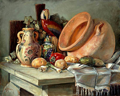 Painting - Studio Still Life by Gini Heywood