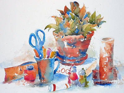 Painting - Studio Still Life by Pat Katz